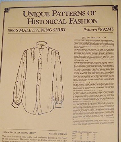 Amazon com: Unique Patterns of Historical Fashion 1890's Male