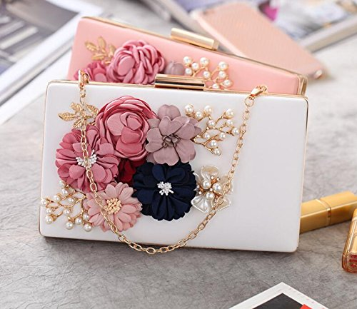 Small Crossbody Bridal Evening Wedding Diamante Clutch Purse Ladies Bridal Elegant Handbag Clutch Bag Party Handbag White zw1FCq