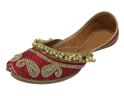 Step n Style Designer Shoes Indian Ethnic Wear Dance Balley Punjabi Jutti Flat - Balley Fashion