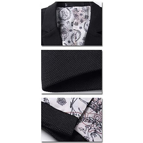 Bleu Affaires Blazers Ciel Coat Fit Manches Bozevon Manteau Hommes Blazer Boutonnage Casual Longues Slim Simple Tops twEq446