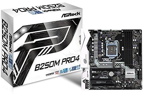ASRock Motherboard Motherboards B250M PRO4 (Pentium 4 Motherboard)