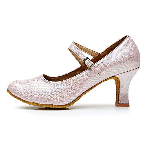 Rose pour Talons Hauts Sandales VASHCAMER de Danse Chaussures Femme qwx8aA