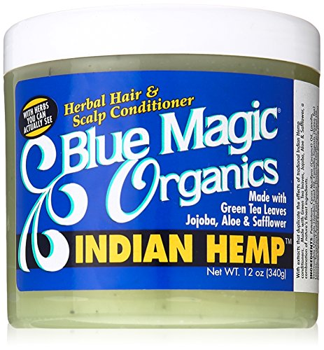 Blue Magic Indian Hemp Conditioner, 12 Ounce (Best Hair Grease For African American Hair)