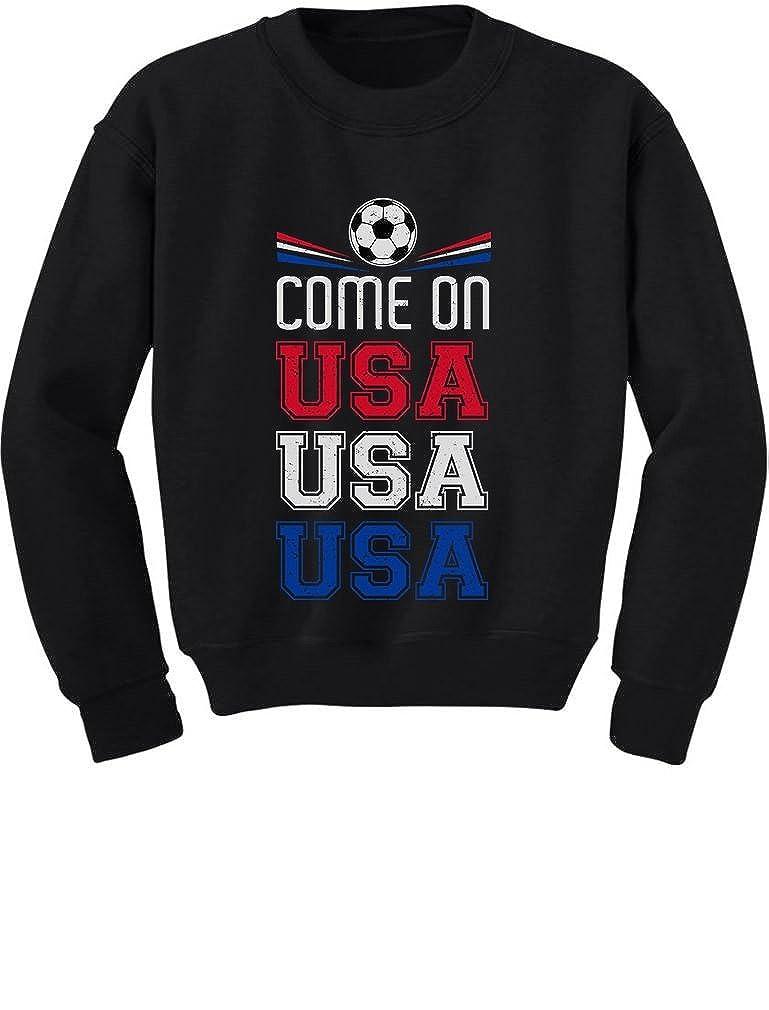 Come On USA Soccer Ball Flag American Soccer Fans Toddler//Kids Sweatshirt
