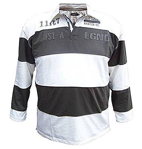 Übergrössen !!! Designer Langarm-Polo-Shirt LAVECCHIA in 2 Farbkombinationen 118004 khaki/creme 7XL