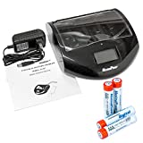 MaximalPower FC997 Universal Ultra Smart Charger Alkaline NiMh NiCd Li-ion AA AAA C D 9V Battery Cell Charger (FC997 Charger Plus Pack of 4 AAA Batteries (1200mAh))