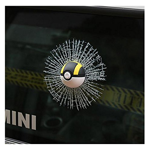 Easy My Little Pony Adult Costumes (Car 3D BLACK Monster Ball, Marsway 2016 Creative Funny 3D Bumpers, Roofs, Cars, Motorcycles, Tuning, Etc. Hits Car Window Decal Stickers)