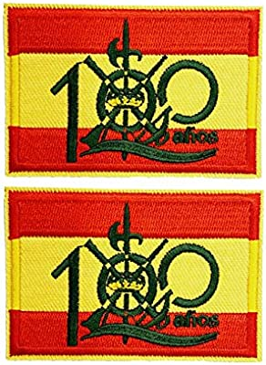 2 pcs Parche bandera 100 años Legión española 5,8x4cm: Amazon.es ...