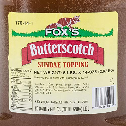 TableTop King 1/2 Gallon Butterscotch Ice Cream Sundae Topping - 6/Case by TableTop King (Image #2)