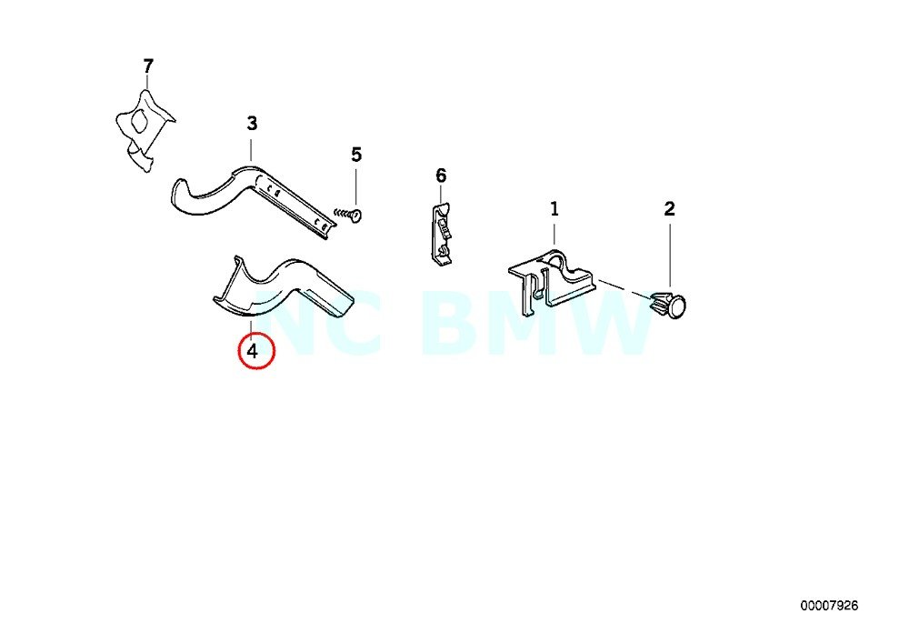 BMW Genuine Covering For Right Cable Guide