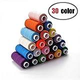 CiaraQ Sewing Threads Kits 30 Colors Polyester 250