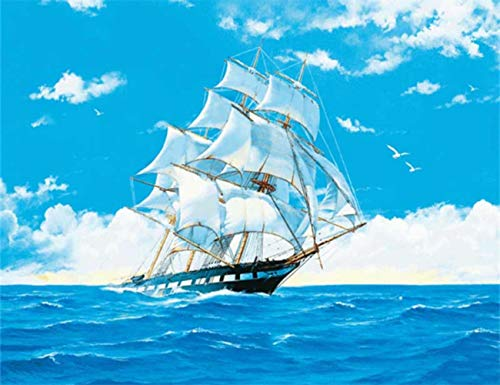 DIY 5D Diamond Painting Full Drilling Embroidery Rhinestone Paste Giant ship2 DIY Painting Cross Stitch Household A…