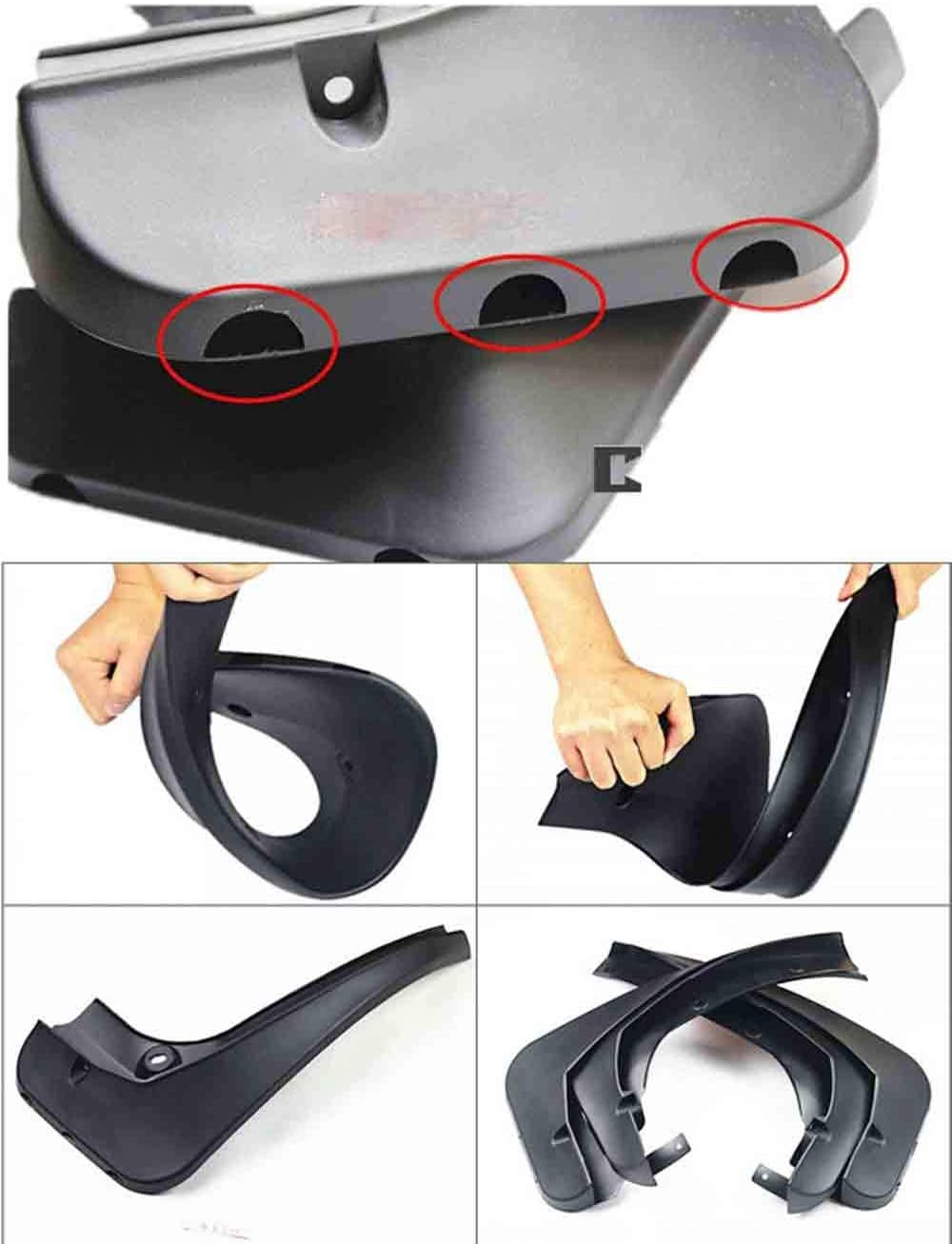GGYSSY Front And Rear Splash Guard Compatible with Jaguar XFL XF XE Full Protection Mud Flaps All in One Splash Guard Kit,B