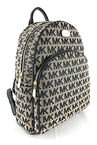 Michael Kors Abbey Large Jet Set Backpack BG / BLK / BLK ()