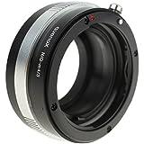 Quenox Objektiv-Adapter mit Blendenring für Nikon-F-Objektiv an Micro-Four-Thirds-Kamera - z.B. für MFT-Kameras wie Panasonic Lumix DMC G81 G70 G6 G5 G3 G2 GF8 GF7 GF6 GF5 GF3 GF2 GF1 GH5 GH4 GH3 GH2 GH1 GX800 GX80 GX8 GX7 GX1 GM5 GM1 Olympus OM-D E-M10 E-M5 E-M1 (alle Mark I+II) Pen E-PL8 E-PL7 E-PL6 E-PL5 E-PL3 E-P5 E-P3 E-P2 E-P1 E-PM2 E-PM1