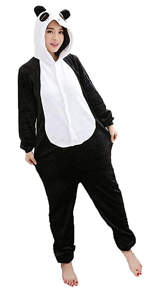 Mescara pigiama Onesies Kigurumi pigiama costumi unisex in pile Animal Halloween