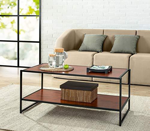 Zinus Troy Modern Studio Collection Deluxe Rectangular Coffee Table, Brown (Renewed) ()