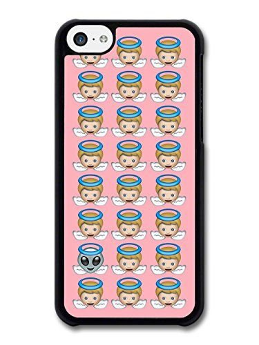 Funny Cool Grunge Angel Emoji Wtih Alien Angel on Pink case for iPhone 5C