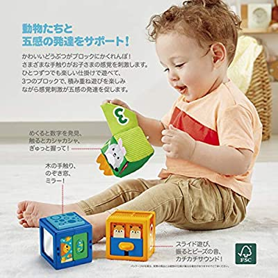 Fisher-Price Stack & Discover Sensory Blocks, 3 Colorful Baby Toys: Toys & Games