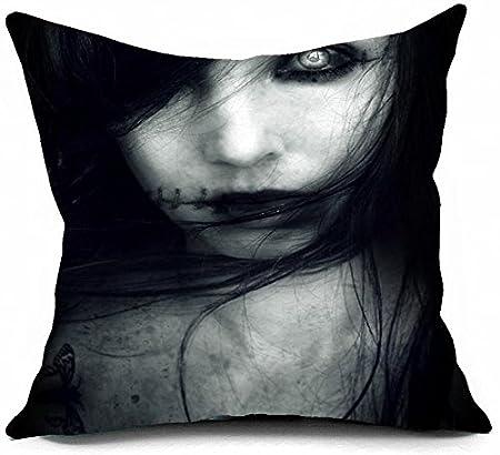 Custom Pure algodón cadáver novia Art fundas de almohada almohadas ...