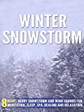 Winter Snowstorm: 8 Hours Heavy Snowstorm and Wind Sounds for Meditation, Sleep, Spa, Healing and Relaxation