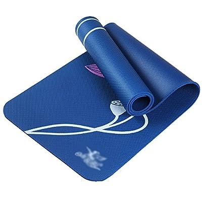 Yoga mat 185 61cm 8mm High Density NBR Fitness Mat Printing Lotus