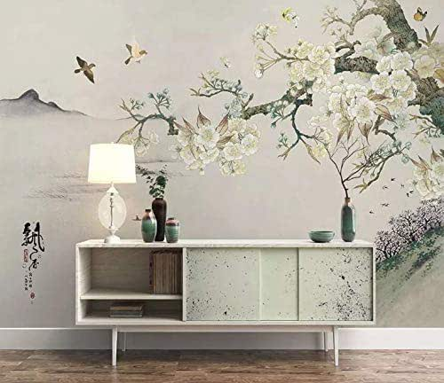 Amazon.com: Murwall Vintage Floral Wallpaper Plum Blossom