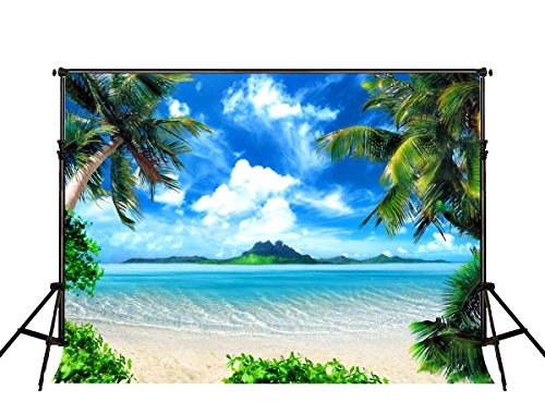 Kate 7x5 ft Summer Natural Scenery Backdrops Photography Blue Sea Beach Photo Backgrounds