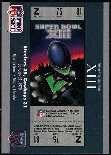 - Football NFL 1990-91 Pro Set Super Bowl 160 #13 SB XIII Ticket NM-MT