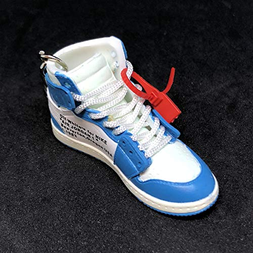 e04944c67aeef Pair Air Jordan 1 I High Retro Off White UNC Blue OG Sneakers Shoes ...