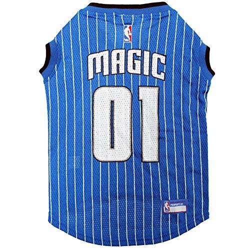 NBA ORLANDO MAGIC DOG Jersey, Medium - Tank Top Basketball Pet Jersey -
