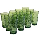 Certified International Green 20 oz Acrylic Ice Tea Drinkware (Set of 12), Green