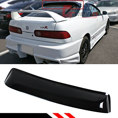 Cuztom Tuning Fits for 1994-2001 Acura Integra DC Type-R JDM Smoke Tinted Rear Roof Aero Window Visor