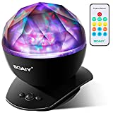 Tools & Hardware : [Upgraded Version] SOAIY Soothing Aurora LED Night Light Projector with Timer, Remote, Music Speaker, 8 Lighting Modes, Relaxing Light Show, Mood Lamp for Baby Kids and Adults, Living Room and Bedro