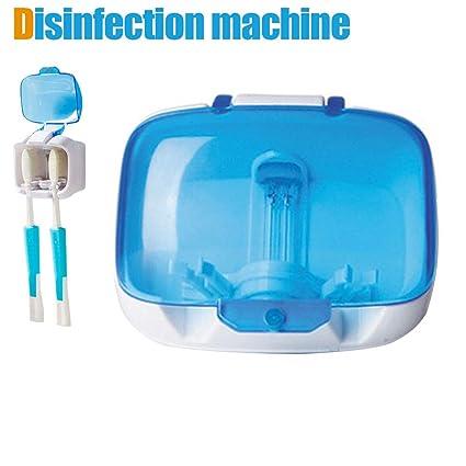 Majome Pareja de Amantes Esterilizador Caja de Cuidado Dental Soporte de Cepillo de Dientes montado en