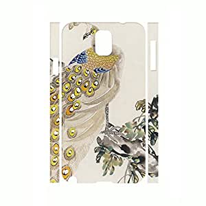 Custom Bling Feather Phone Cover Peacock Hard Plastic Case Skin for Samsung Galaxy Note 3 N9005