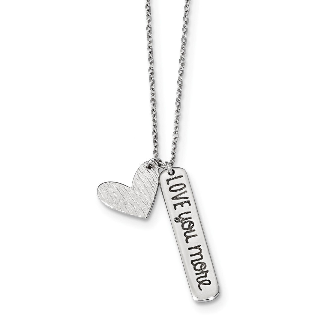 ICE CARATS 925 Sterling Silver Heart Love You More Chain Necklace Pendant Charm S/love Fine Jewelry Ideal Gifts For Women Gift Set From Heart