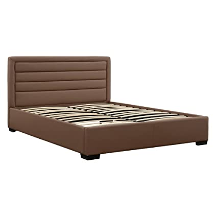 DHP 4018317 Manhattan Premium Faux Leather Bed Taupe Full