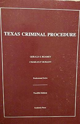 Texas Criminal Procedure: 9781532309991: Amazon com: Books