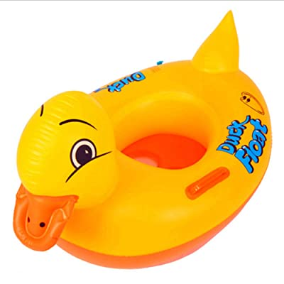 BEUTEY Baby Floats for Kids Inflatable Pool Float Children Early Swimming Rings Water Fun Rubber Safe Seat Boat Raft Age 1-3 Years(Little Duck): Toys & Games