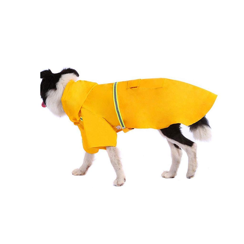 Kwekjren29921 Pet Bed Pet Raincoat,Dog Waterproof Reflective Jacket Hooded Clothes (Size : 5XL) (Size : 4XL)