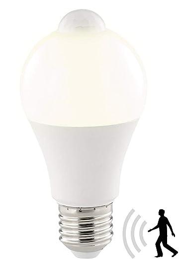 Luminea Bewegungsmelder Lampe: LED-Lampe, PIR-Sensor, 12 W, E27, warmweiß, 3000 K, 1.055 Lumen (Glühlampe mit Bewegungsmelder