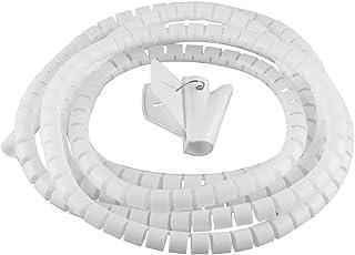 Kabel-Organizer, Kabel-Management-Hülse, flexibel, Spiral-Schlauch, Kabel-Umwicklung, Computer-Management, mit Clip schwarz 32mm-2M