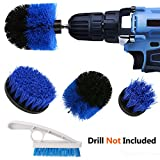 PDTO Power Drill Brush Set - 3 Piece Drill Brush Attachment & Tile Grout Brush Kit for Cleaning Tiles, Grout, Bathroom, Tub, Floor and Kitchen Surfaces