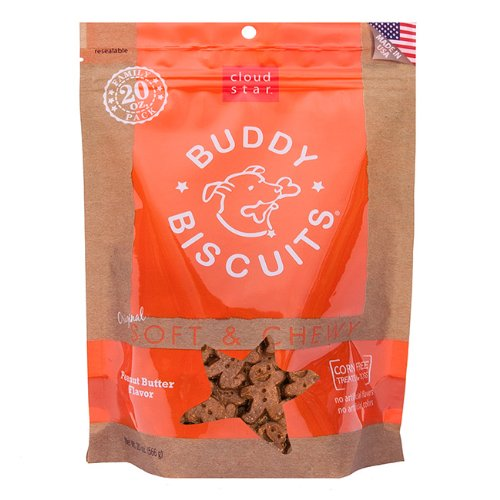 Cloud Star Original Soft and Chewy Buddy Biscuit, 20-Ounce, Peanut Butter