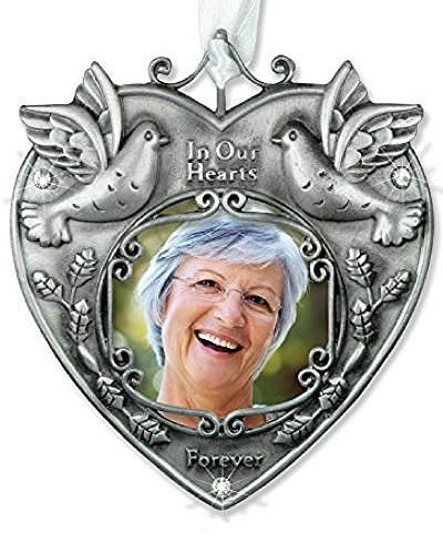 Memorial Photo Ornament -- Beautiful Photo Bereavement Ornament Adorned with Doves and Sparkling Crystals -- a Wonderful Remembrance Ornament to Hang on Your Christmas Tree in Memory of a Loved One