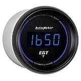 "Auto Meter 6945 Cobalt Digital 2-1/16"" 0-2000 F Pyrometer E.G.T. (Exhaust Gas Temperature)"
