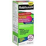 Robitussin Severe CF (8 fl. oz. Bottle) Maximum Strength Cough, Cold, & Flu Nighttime Medicine