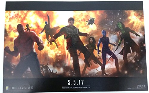 Guardians of the Galaxy Poster 20 x 13 inches Comic Con 2016 Exclusive Marvel
