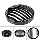 """New Black 5 3/4"""" Aluminum Motorcycle Headlight Grill Cover for Harley XL 883 1200"""